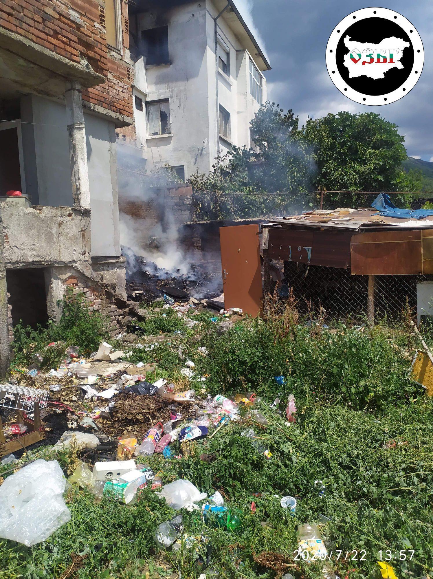 Изгорялата къща в Сопот